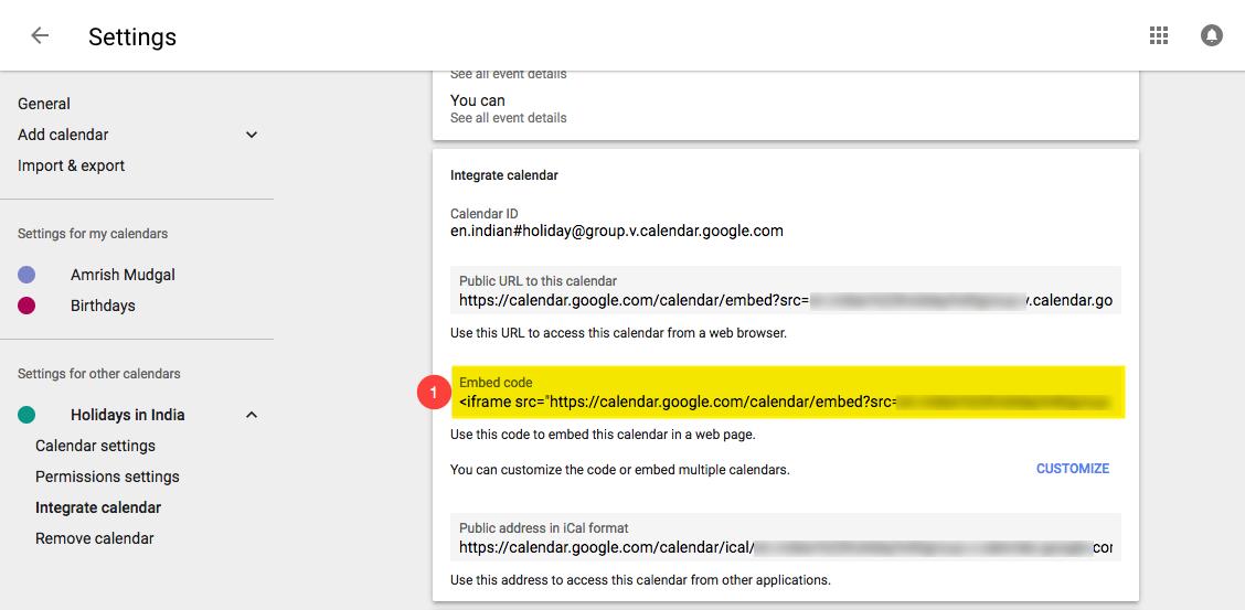 Add Google Calendar to your website — Pixpa Help