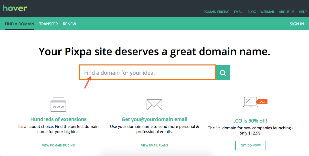 domain name registration with free email
